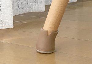 足の太さごとにサイズを変えて2種類を付けました。【ワイドフェルトキャップスリム】