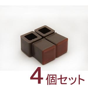 家具のスベリ材 角キャップ SS Cwe-028