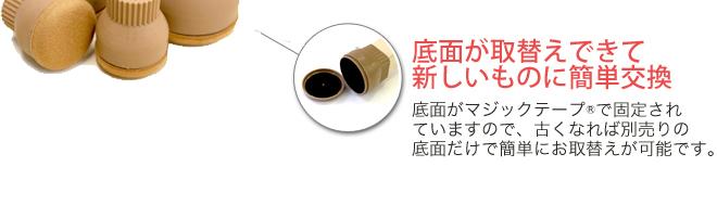 底面がマジックテープで固定されているので古くなれば簡単に取り替え可能