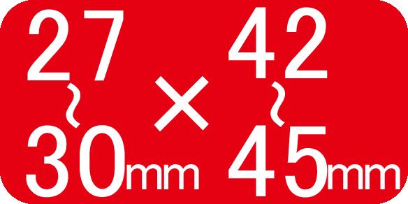 適合サイズ27~30×42~45mm