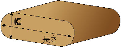 長丸脚サイズ計測位置イラスト