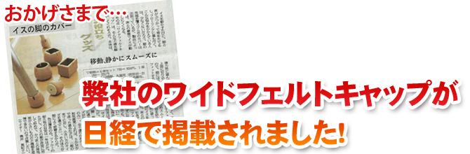 日経で紹介されました!
